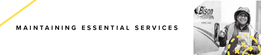 Maintaining essential services